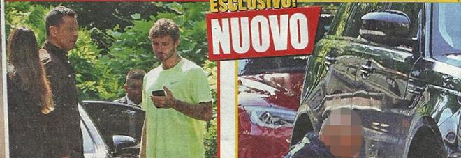 Belen Rodriguez e Stefano De Martino, si buca la gomma della macchina