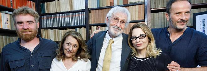 I cinque finalisti del Premio Strega 2017. Da sinistra: Paolo Cognetti, Wanda Marasco, Alberto Rollo, Teresa Ciabatti e Matteo Nucci