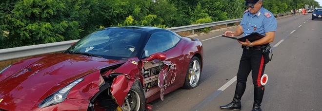 La Ferrari coinvolta nell'incidente