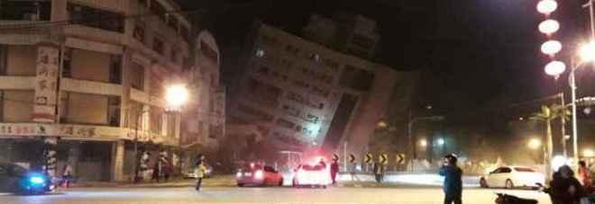 Forte terremoto a Taiwan, scossa di magnitudo 6.4: crollato un hotel, persone intrappolate