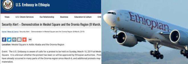 «Non partite da Addis Abeba il 10 marzo», la coincidenza choc dell'avviso dell'ambasciata Usa due giorni prima dell'incidente aereo