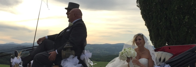 Lazio, matrimonio per Inzaghi: Simone sposa Gaia a Montalcino