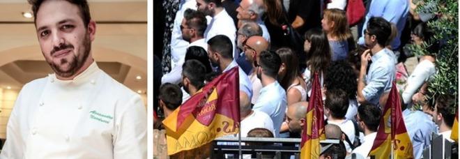 Narducci, bandiere della Roma e applausi al funerale dello chef La madre: «Non perdonerò mai»