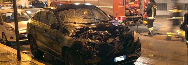 L'auto di Iemmello incendiata a Foggia