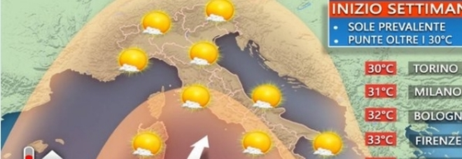 Colpo di coda dell'estate, bolla africana da lunedì: temperature come a luglio