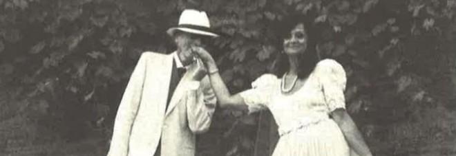 Tino Schirinzi nel giorno del matrimonio con Desy Lumini