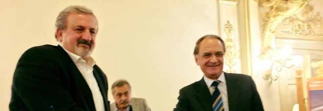 Michele Emiliano e Simeone Di Cagno Abbrescia