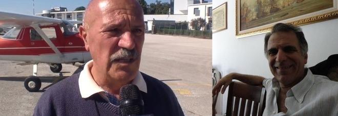 Franco Mura (a sin) e Roberto Vescovo morti nello schianto dell'aereo a Caorle