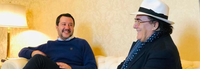Salvini incontra Al Bano al Viminale. E lui gli dona una bottiglia di vino da 5 litri