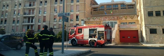 I vigili del fuoco in ospedale
