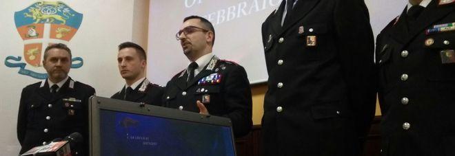 La conferenza stampa dei carabinieri di Brindisi