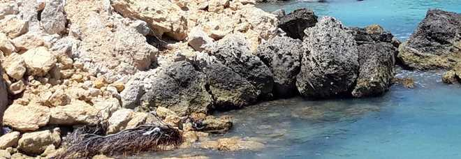 La costa crolla ancora Bagno dei turisti nell'acqua bianca