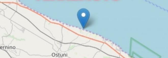 La terra trema nel Brindisino: scossa di terremoto lungo la costa