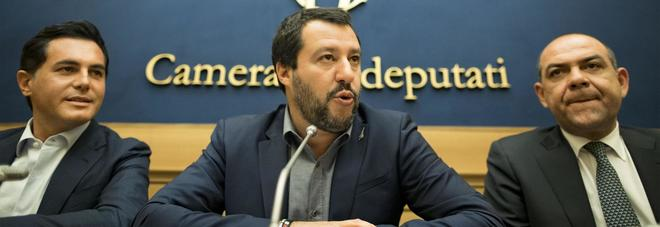 Nuccio Altieri, Matteo Salvini e Roberto Marti