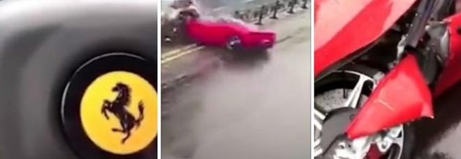 Schianto in Ferrari da 500mila euro appena uscita dalla concessionaria: una donna al volante
