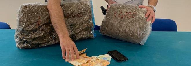 In viaggio dal Salento con 9 chili di droga: arrestato a Carovigno