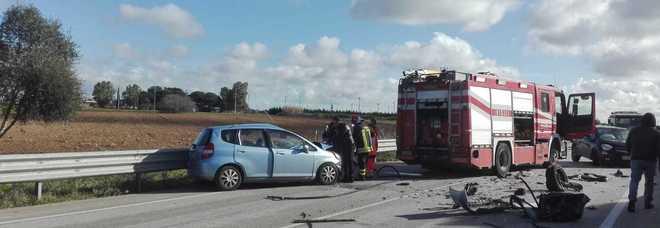 La scena dell'incidente stradale