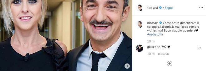 Nicola Savino e il ricordo commovente di Nadia Toffa su Instagram