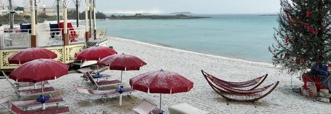 Gelo sulla Puglia, prima neve nel Salento/Campagna innevata nel Tarantino
