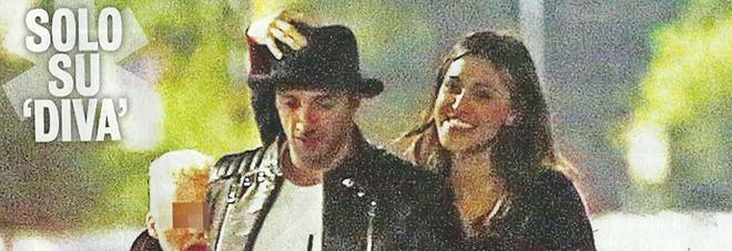 Belen Rodriguez, Andrea Iannone e Santagio a Milano