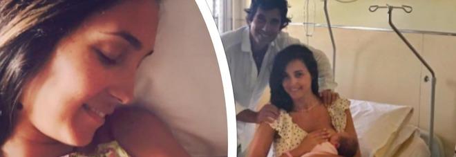 Caterina Balivo, prime foto con Cora: in ospedale con prosciutto e pecorino