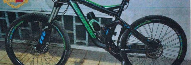 La bici recuperata dalla Polizia