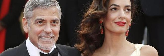 George Clooney e Amal, nati i gemelli. Ecco come i nomi del bimbo e della bimba