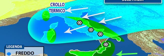 Meteo, «Attila» porta l'inverno: ecco come cambierà il clima sull'Italia nei prossimi giorni PREVISIONI