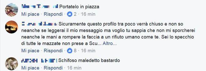 Gli insulti sul profilo facebook del ragazzo: «Ti vogliamo morto»