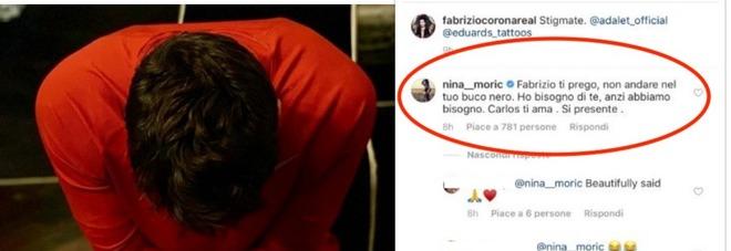 Fabrizio Corona e i nuovi tatuaggi: «Le mie stigmate». Nina Moric si infuria e commenta così