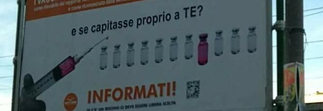 Bari tappezzata di manifesti contro i vaccini Indagine per scoprire i committenti