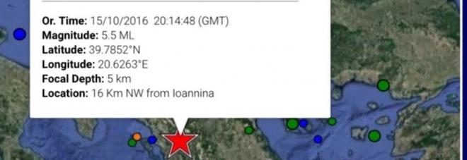 Terremoto di scala 5.2 fra Grecia e Albania: la scossa avvertita anche nelle province di Lecce, Brindisi e Taranto Altre scosse anche in piena notte