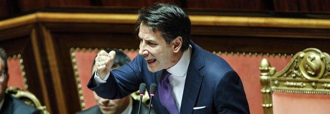 """Il discorso """"muscolare"""" del premier Conte"""