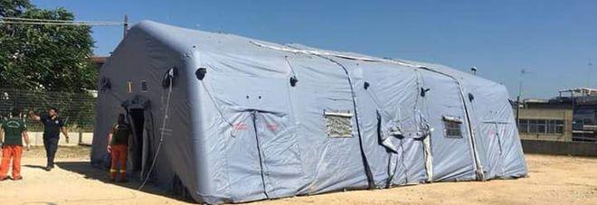Giustizia senza pace a Bari: dopo il Palazzo chiusa anche una tenda, sporcata dagli animali