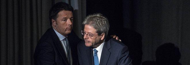 Renzi e Gentiloni (lapresse)