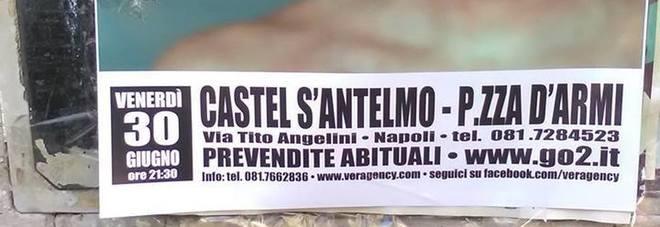 Niccolò Fabi a Napoli, clamorosa gaffe sui manifesti del concerto