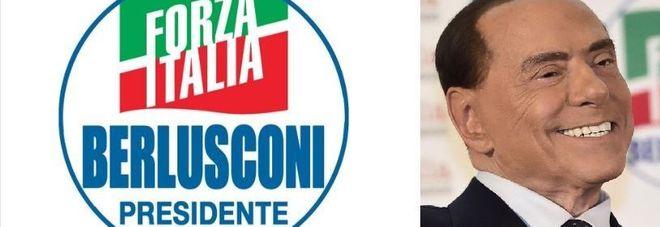 """""""Berlusconi presidente"""": l'ex Cav presenta il logo di Forza Italia"""