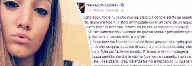 Noemi Durini, il post di Selvaggia Lucarelli