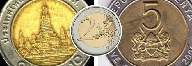 Truffa dei due euro, antica ma sempre attuale: occhio al resto in monete dalla Thailandia o del Kenya