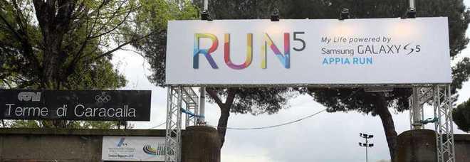 Appia Run, la corsa tecnologica per tutti Malagò: «Grazie Samsung, grande partner»