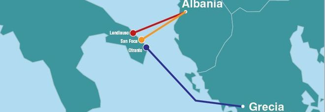 La cartina dei tre gasdotti