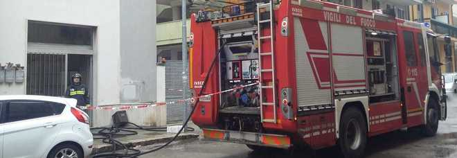 Lecce, abitazione a fuoco nel quartiere San Pio