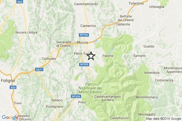 Forte terremoto di 3.5 in provincia di Macerata, avvertito anche ad Ancona