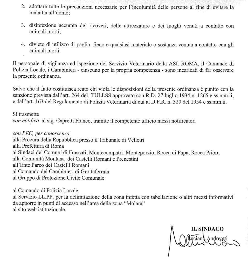 Ufficio Messi Roma.Antrace Allarme Alle Porte Di Roma Bovini Morti E Due